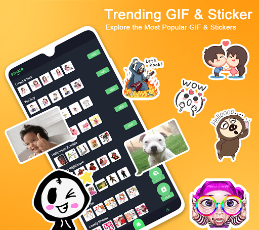 Kika Emoji keyboard + Emoticon, gif, Sticker, wallpaper